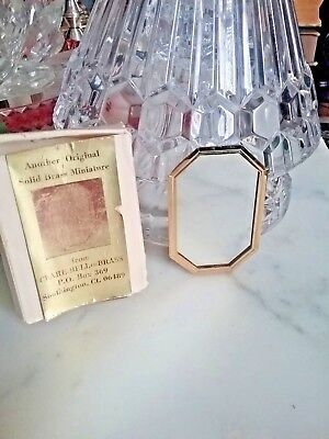 Vintage Dollhouse Miniature Inch Scale Clare Bell Brass Mirror