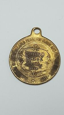Vtg Grand Prize Beer International Medal 1952 Fob Quality Flavor Award Pale Dry
