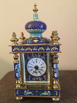 Chinese Antique Cloisonne Clock, battery operated, good condition