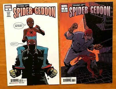 Edge Of Spider-Geddon #3 Zonjic Main Cover + Cully Hamner Variant Marvel 2018 NM