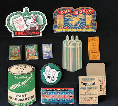 Lot 9 Vintage Sewing Needle Books Kits Advertising Piggly Wiggly One World ++