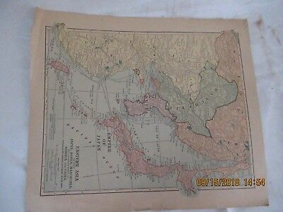 Map of Eastern Asia- Published by the Scarborough Company, Boston Mass