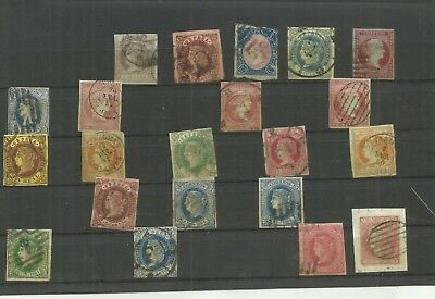 Spain early imperf stamps selection