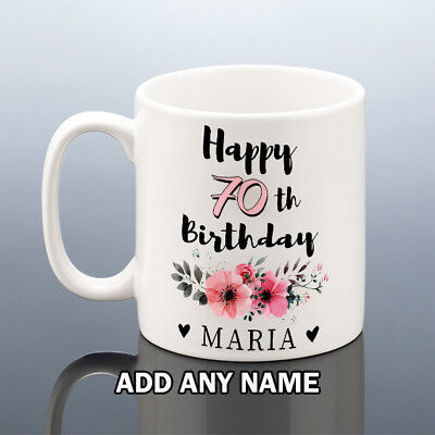 70th BIRTHDAY MUG 1949 Personalised Cup 70 Gift For Her Women Mum Nana Aunt Gran