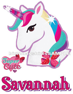 NEW Custom Personalized JoJo Siwa Unicorn T Shirt Birthday Party Add Name