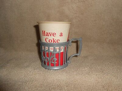 Coca-Cola Soda Fountain Pewter Coke Cup Holder & Have a Coke Cup