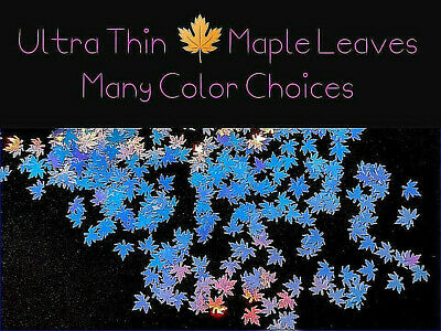 MAPLE LEAF🍁 ULTRA THIN~Shape~You Choose Color~Nail Art•Face•Festival•Crafts🍁