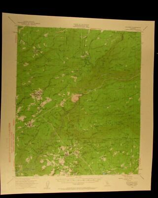 Columbia California 1961 vintage USGS Topographical chart map