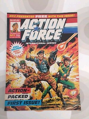 ACTION FORCE UK Marvel comic issue one March 1987