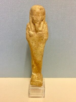 Rare! Ancient Egyptian White Ushabti, Superb 747-332 B.C. W/ Certificate
