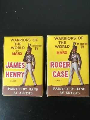 Pair Of Warriors Of The World West Point Cadets With Boxes & Cards Marx