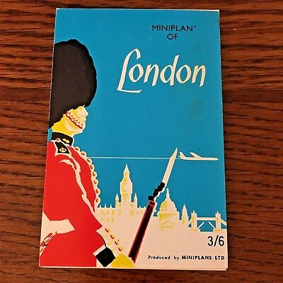 London, England Vintage Mini Plan And Detailed Map