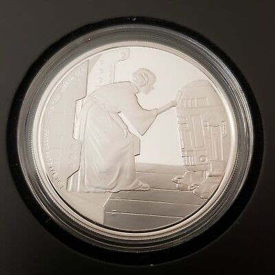 Star Wars Classic: Princess Leia 1 Oz Silver Coin - Limited Edition of 10,000