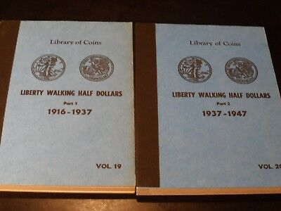 US Walking Liberty Half Dollar 1916-1947 Complete Collection 65 Coins 2 Books
