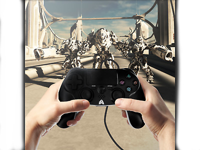 New PS 4 Controller Multiple Vibration Cable 1.8 M Wired Game Controller, 3 in 1