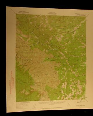 Colyear Springs California 1959 vintage USGS Topographical chart map