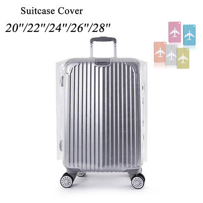 20''22''24''26''28'' Transparent Waterproof Luggage Protector Suitcase Cover&Tag