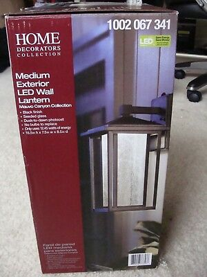 Home Decorators Collection Black Medium Outdoor Seeded Glass Wall Lantern