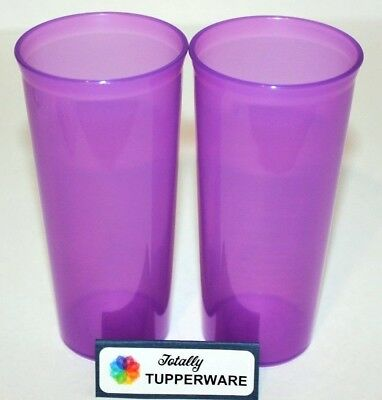 Tupperware Tumbler Cups Straight Sided 12 oz. Set of 2 in Purple