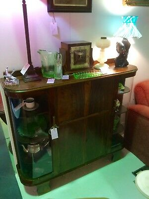 Art Deco 1930's Book Case / Display Cabinet