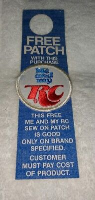 """Royal Crown Cola NOS Promo Card w/ """"Me and my RC"""" Sew On Patch 2-3/8"""""""