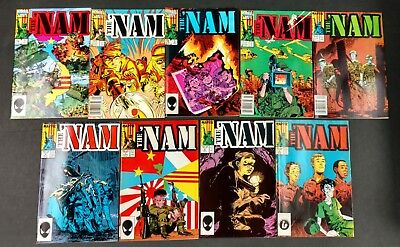 Marvel War Lot 44 Vf Ish Bks Nam #1 To 15,g.i Joe Yearbook,special Missions,more