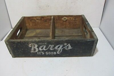 Barq's Bottling Co. Hagerstown MD. Soda Water Wine Antique Wooden Crate Box Home