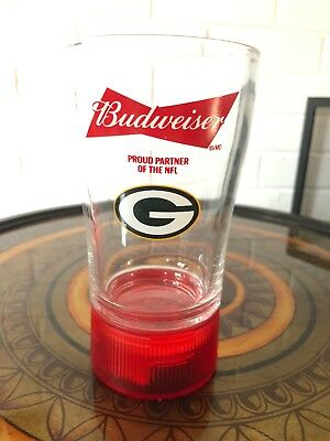 budweiser Nfl Touchdown Synced Glass Green Bay Packers