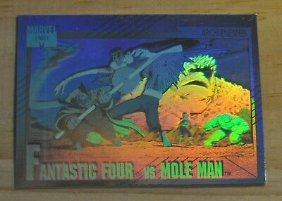 1991 Impel Marvel Universe Series II Hologram Fantastic Four vs Mole Man #H-5 H5