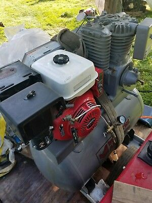 Industrial Air 50 gallon 11 HP, 2 Stage Air Compressor Truck Mount with Dolly