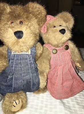 Vintage Boyds Plush Bears Lot 2 Mom And Pop Couple