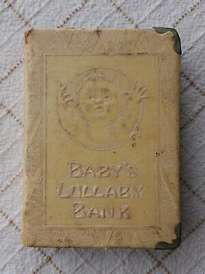Coin Bank Safe Book Baby's Lullaby Zell The First Step Volume.V Vintage