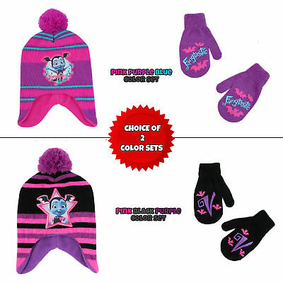 Disney Vampirina Hat and Mittens Cold Weather Set, Toddler Girls, Age 2-4