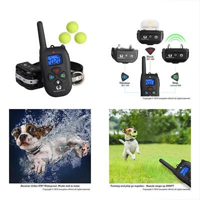 Dog Training Collar Remote 1450FT Rechargeable Waterproof Shock With Tennis For