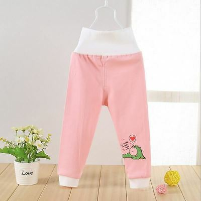 Boy Girl Trousers High Waisted Baby Pants Soft Outerwear Cotton Infant Clothes B