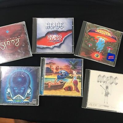Lot Of 6 Classic Rock Cds Journey AC DC Def Leppard Boston Rock 80s 90s