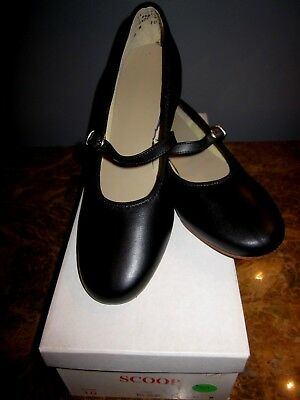 Mid-South Footwear Scoop Clogging Shoe Black #10 Ladies Size 6M New with Box