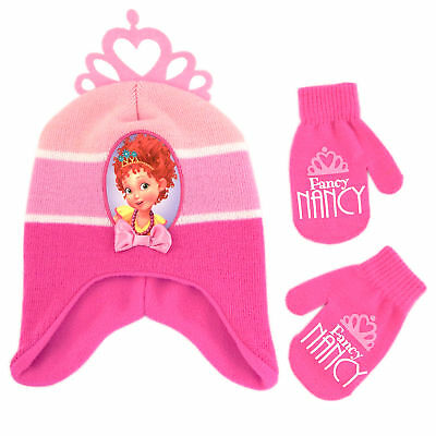 Disney Fancy Nancy Hat and Mittens Cold Weather Set, Toddler Girls, Age 2-4