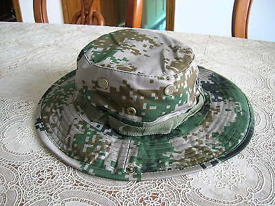 07's series China PLA Summer Woodland Digital Camouflage Combat Hat,Boonie Hat