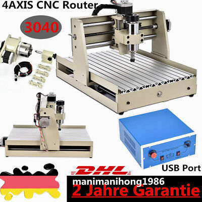 USB 4Axis CNC Router 3040 Engraver Engraving Mill Drill 3d WOOD Cutter VFD