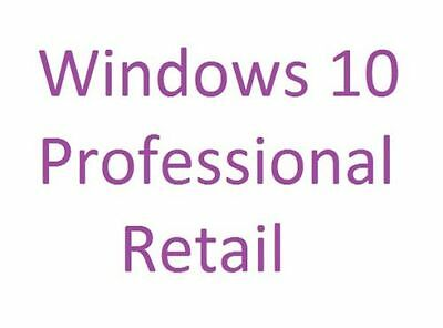 Unused Win 10 32/64 Bit New Activation Product Pro Professional Retail Key Code