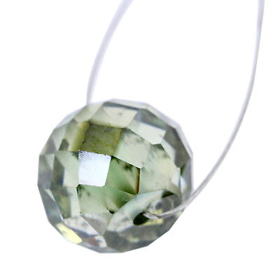 Blue Diamond Round Cut Drilled Loose Bead -6.10 Ct- AAA Certified - Earth Mined