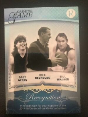 regal greats of the game 2017 Century recognition card double sided