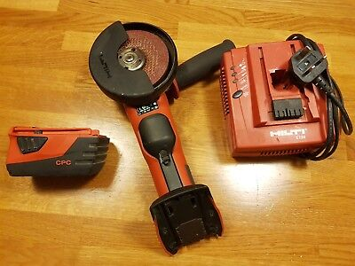 HILTI AG 125-22  angle grinder with charger,  handle, 5.2 battery 04/18