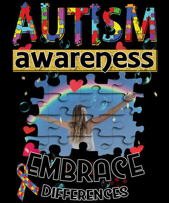 485eafccb Autism Awareness Shirt Embrace Differences Autistic Puzzle HIGH QUALITY  T-SHIRT