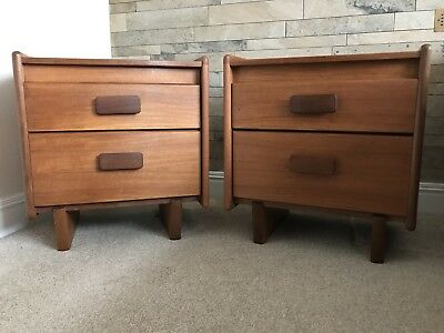 Matching Pair of Large Vintage Retro Teak bedside cabinets, 1960s