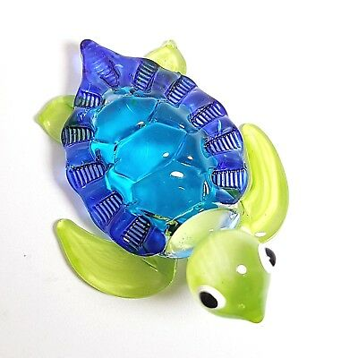 Blown Glass M Sea Turtle Figurines Handmade Collectible Animals Pottery Art Gift
