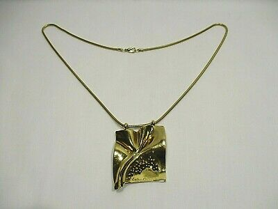 Bijou Sidney Carron Collier Pendentif Moderniste Jewelry Pendant Necklace