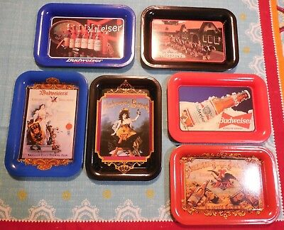 Anheuser Busch Collector Trays Budweiser/Clydesdales St.Louis,MO USA, Man Cave