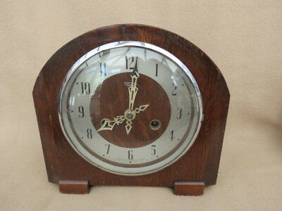 Vintage Smiths Enfield Striking Mantel Clock For Tlc